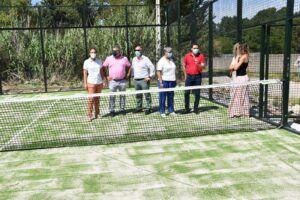 La Diputación inaugura la nueva pista de pádel construida por el Ayuntamiento de Huelves con una inversión de 22.000 euros