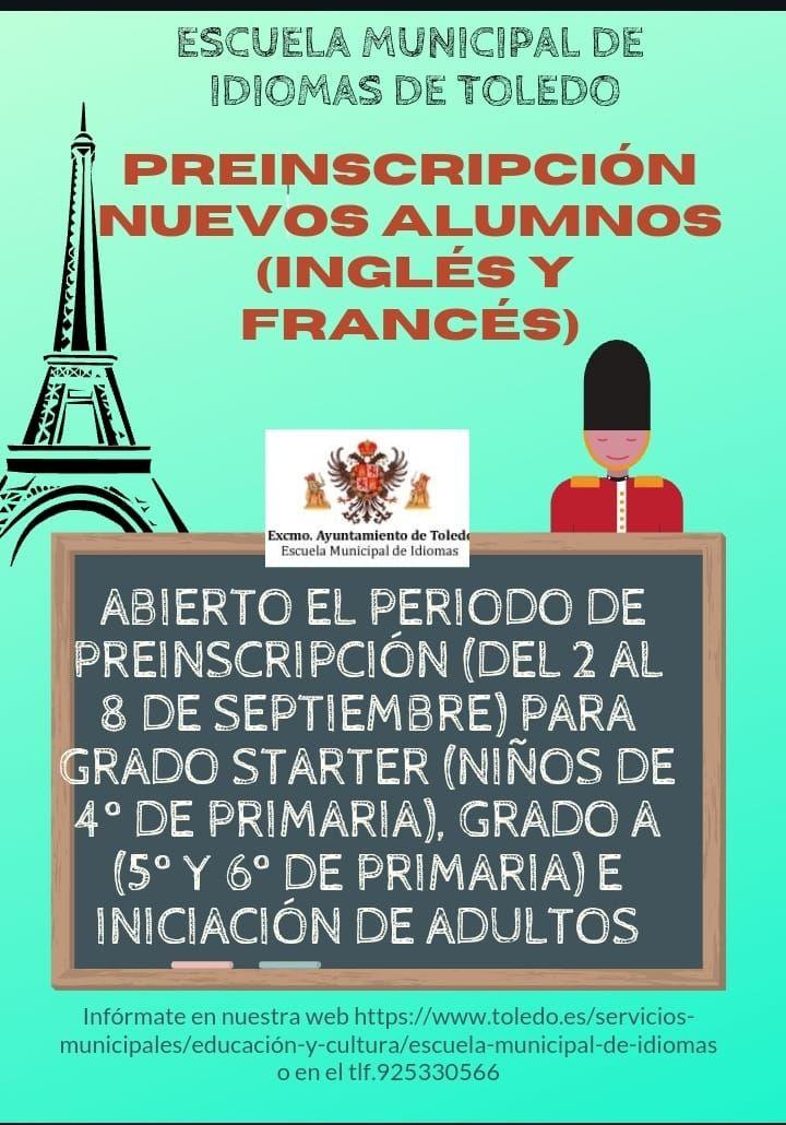La Escuela Municipal de Idiomas abre el plazo de preinscripción y habilitará por primera vez de manera oficial al alumnado de francés
