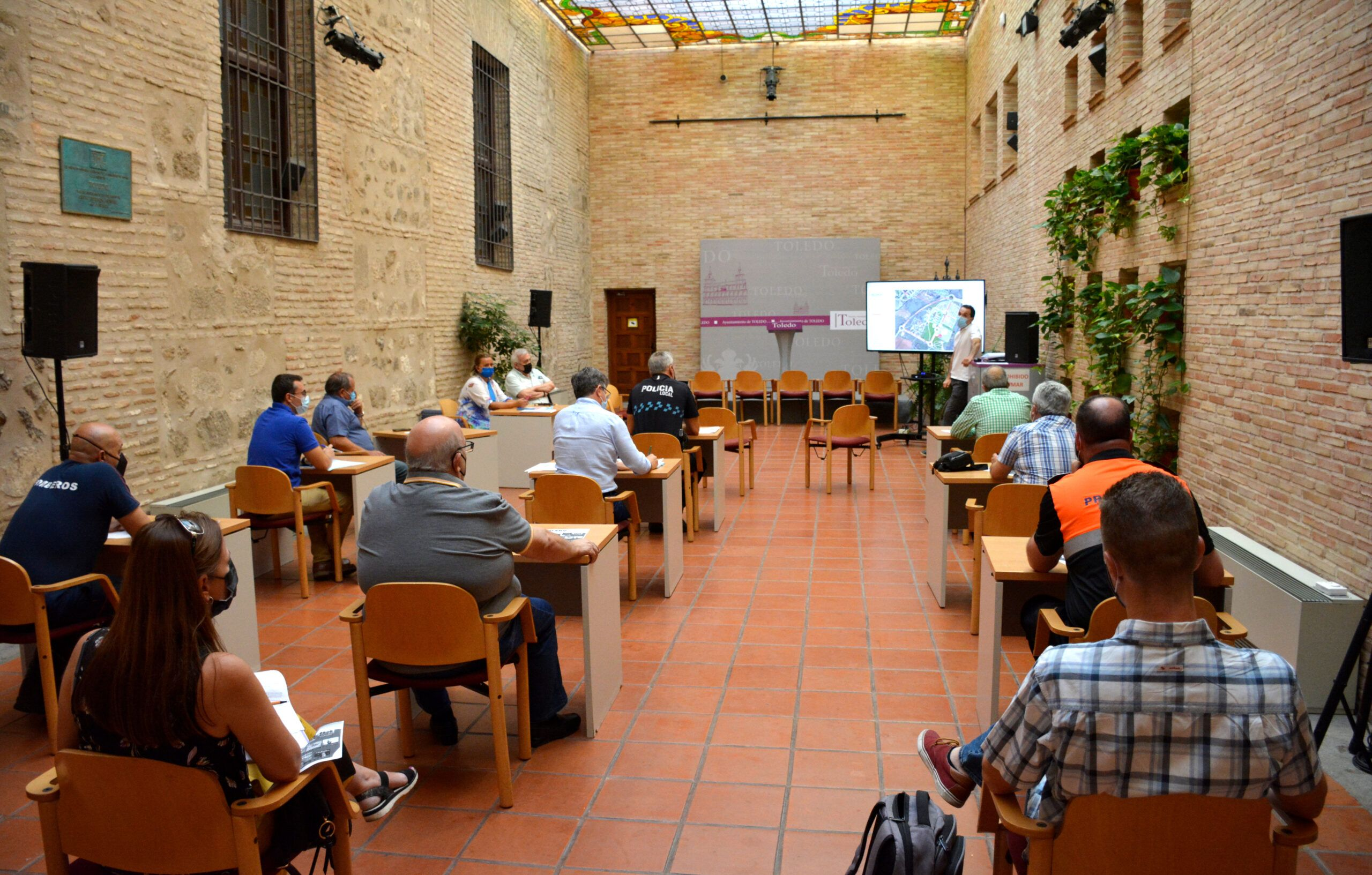 El Ayuntamiento de Toledo celebra la reunión de coordinación de la Feria y Fiestas de agosto para garantizar un desarrollo seguro