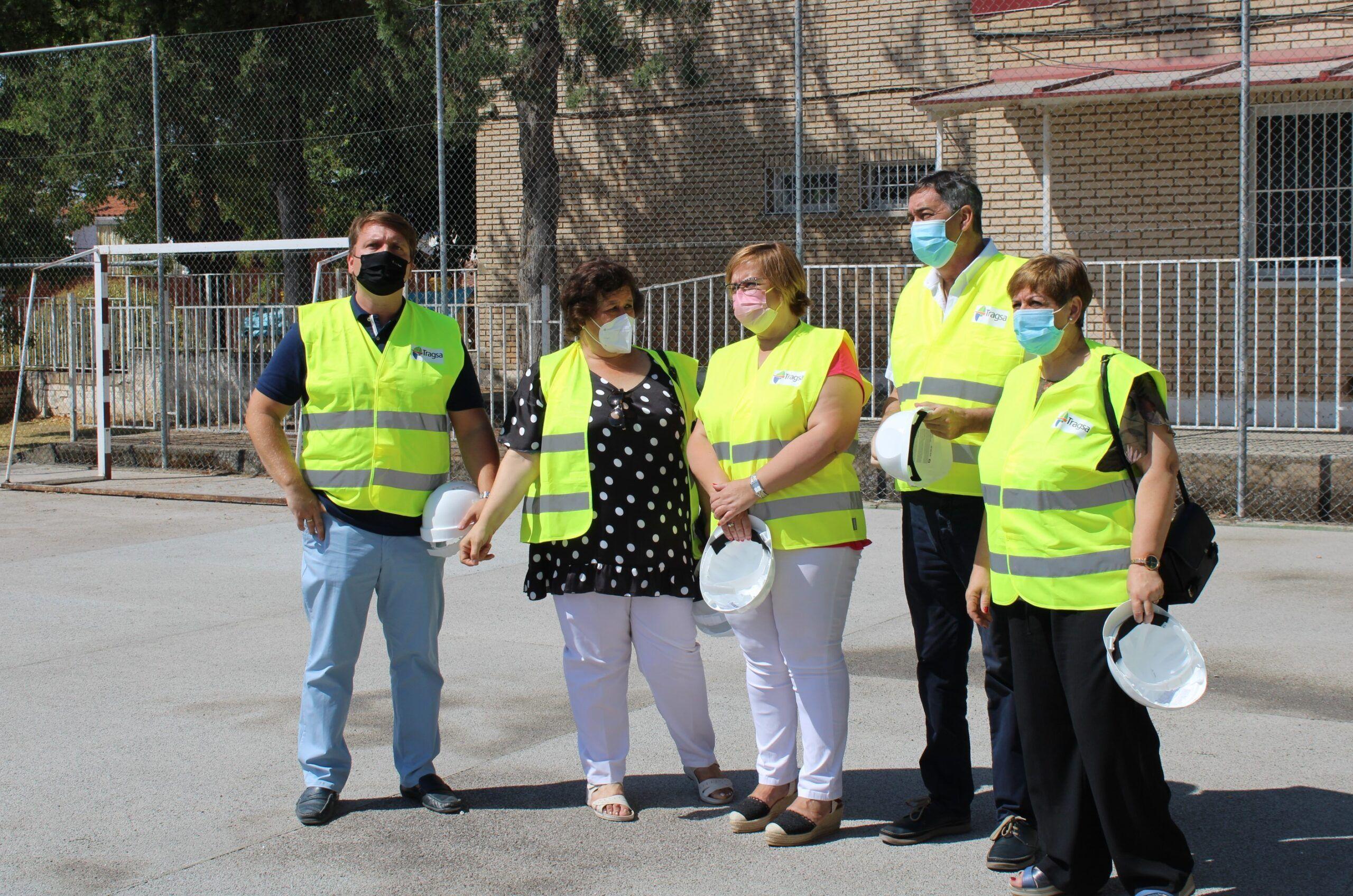 El presupuesto de las obras que lleva a cabo el Gobierno de Castilla-La Mancha en colegios e institutos de Almadén asciende a 355.000 euros
