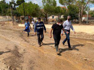 Álvaro Gutiérrez traslada in situ el ánimo y la ayuda de la Diputación a la población y alcaldes de los pueblos afectados por la tormenta