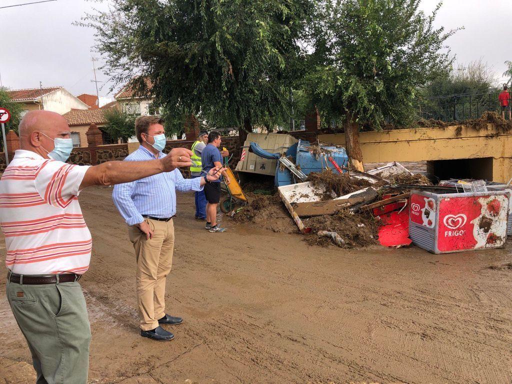 El PP pide a la Diputación de Toledo ayudas para los municipios afectados por las fuertes lluvias que ayer azotaron la provincia