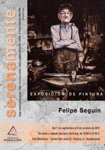 Exposición de pinturas de Felipe Seguín en la Multiusos de la Diputación en homenaje a los mayores fallecidos por el coronavirus