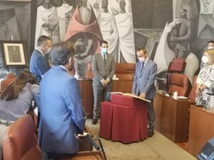 El Grupo Popular en Diputación da la bienvenida a Toledano como nuevo diputado provincial