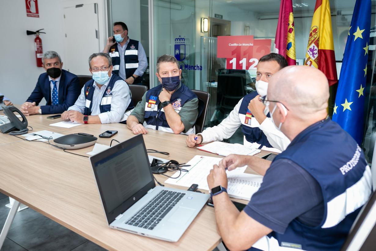 El Gobierno regional moviliza al Plan Infocam para paliar los efectos causados por el temporal DANA en Castilla-La Mancha