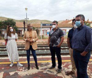 Lola Merino espera el respaldo de García-Page a la iniciativa de Paco Núñez para no interrumpir la línea ferroviaria Chinchilla-Cartagena a su paso por Hellín