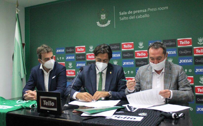 CD Toledo y Grupo Tello Alimentación firman su acuerdo de patrocinio y presentan la equipación definitiva del equipo