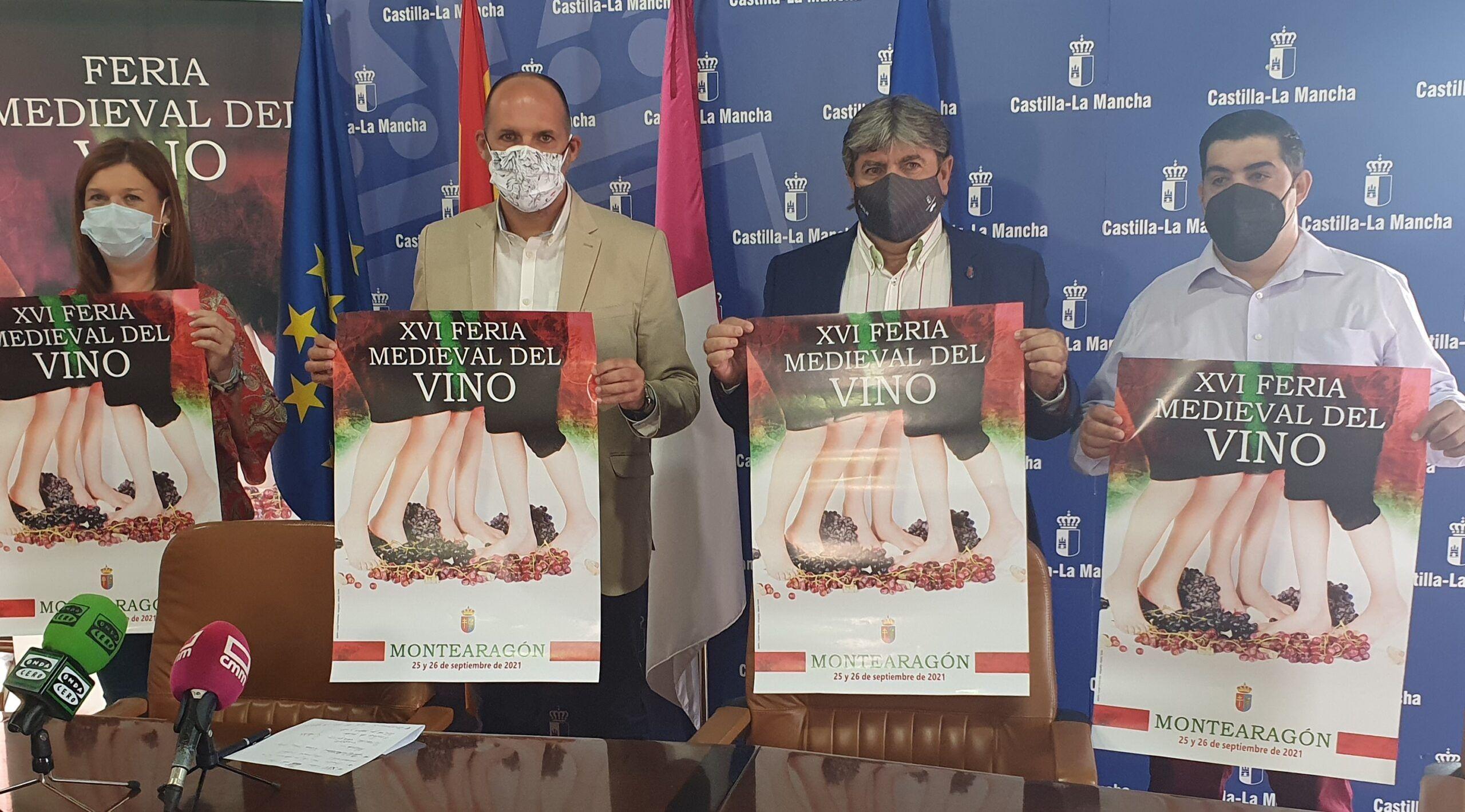 El Gobierno regional destaca la vuelta a la presencialidad de la XVI Feria Medieval del Vino, garantizando la seguridad para que los visitantes conozcan y disfruten los vinos de la DO Méntrida
