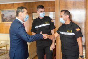 Tierraseca agradece la gran labor desempeñada por el Batallón I de la UME en las situaciones de emergencia en la región